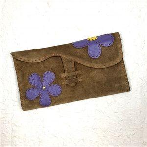 Vintage Leather Boho Clutch